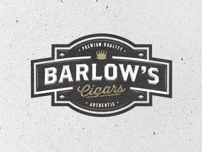 Barlow's Cigars quality authentic premium vintage cigar classy brand custom logo