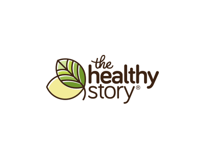 The Healthy Story story brown leaf identity food green healthy modern icon brand logo