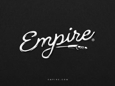 Empire mark style icon jack music design illustration brand logo