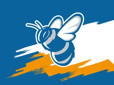 Bumblebee bumblebee mascot football sports design brand logo