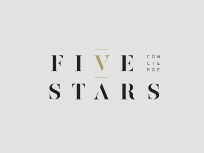 Five Stars classy simple elegant consulting branding brand icon design logo