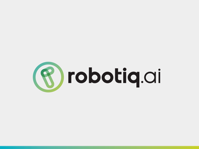 robotiq.ai robotic simple modern branding brand icon design logo