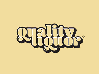 Quality Liquor company custom branding identity typography vintage design retro brand logo