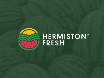 Hermiston Fresh farm vector branding illustration watermelon organic fresh simple company identity icon design brand logo