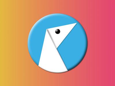 My Agency Big Sur Logo branding agency bird blue shadows 3d icon design logo design icon sur big big sur logo