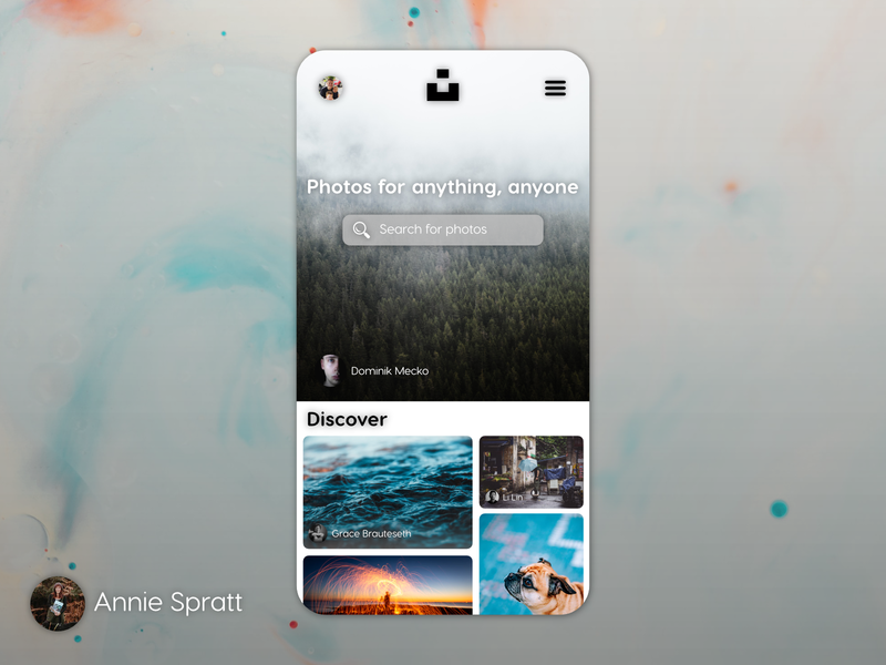 Unsplash Concept Mobile App design ux typography creation uidesign android iphone affinitydesigner affinity designer affinity uiux ui app mobile app