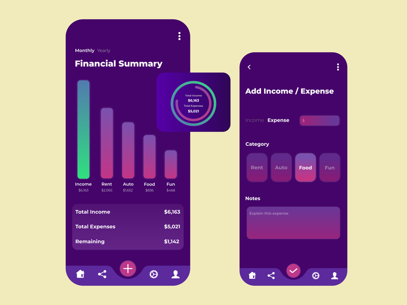 Financial Summary Application Idea branding web design web app uiux design ux ui mobile finance app design bank application financial application mobile application mobile design