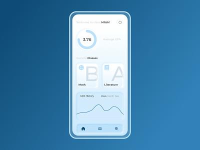 Classes neumorphism application mobile design web design web ux ui neumorphic design neumorphism neumorph graph school app design app design mobile app design mobile app