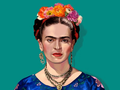 Digital Drawing of Frida Kahlo