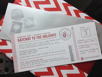OSU Boarding Pass Holiday Invitation