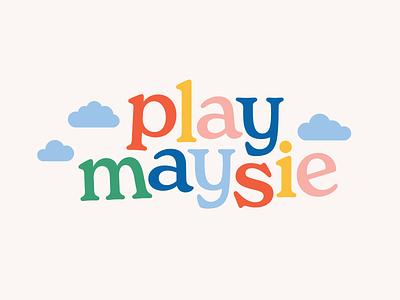 Play Maysie - Branding branding for kids toys kids childrens illustration logotype logo design