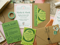 Nicki + Mark Wedding Invitations