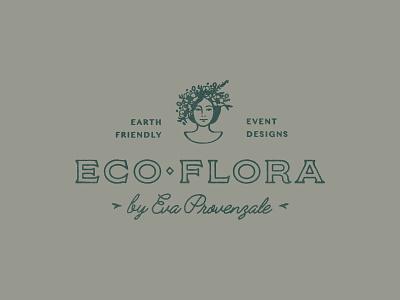 EcoFlora - Unused Branding Concept antique florist flowers floral logo