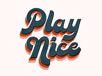 Play Nice - Typography Practice