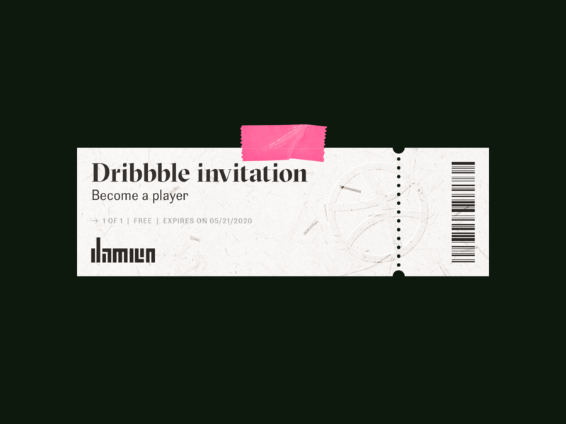 Dribbble invite to grab