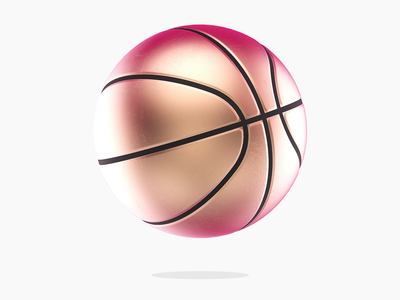 Dribbble Rebound texture pink basketball gold dribbble rendering 3d