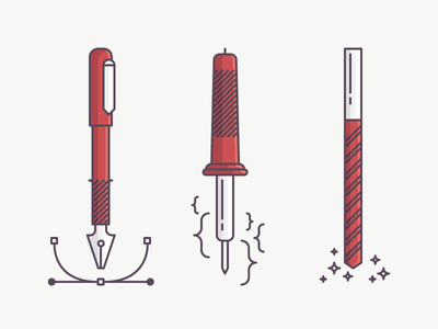 Team up! iron tools factory engineering design vector faivre damien red illustration icon