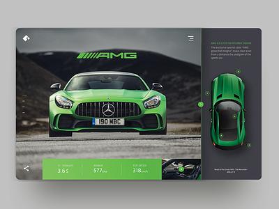Merc AMG GT Coupe uidesign layout typog web amg mercedes ux ui