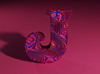 J - 3D Type Experiment typogaphy j 3d