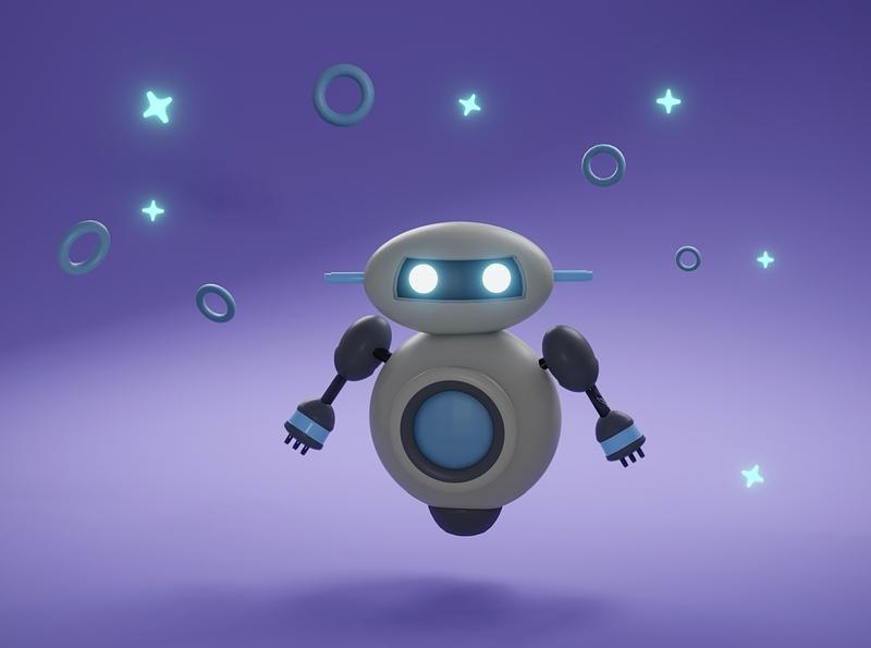 Boynt Robot 3D rocket blender3d blender 3d robot
