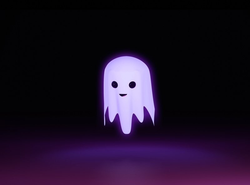 Friendly Ghost boo ghost blender3d 3d