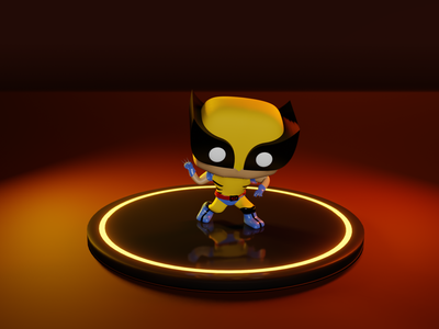 Wolverine blender 3d wolverine