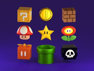Mario Items supermario mariobros mario 3d