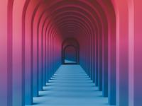 Arches 3d gradient blender architecture