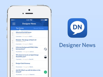 Designer News iPhone App