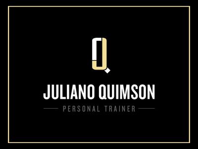Juliano Quimson - Personal Trainer logo jq personal trainer black yellow fitness