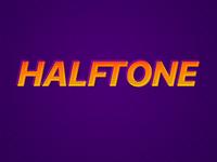 Halftone orange purple halftone