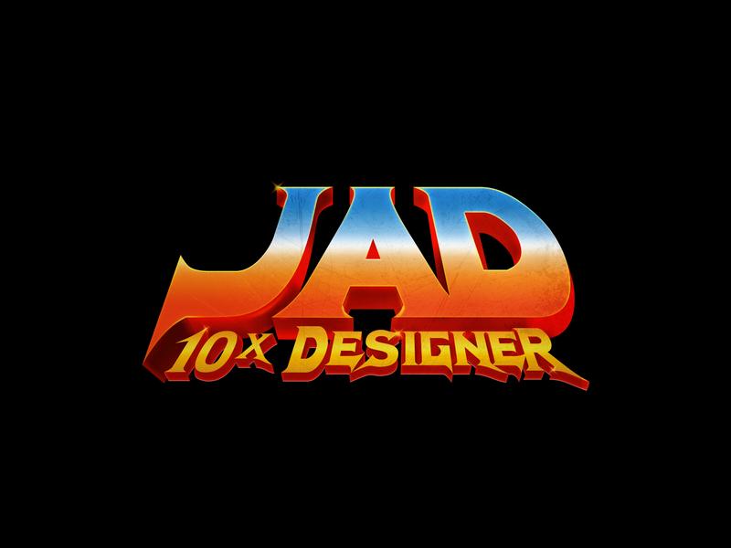 Jad - 10x Designer asd gradient 80s designer jad 10x