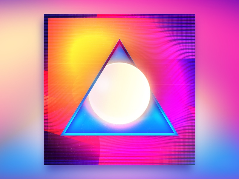 🔺Summer Glow 🔺 abstract glow circle triangle summer