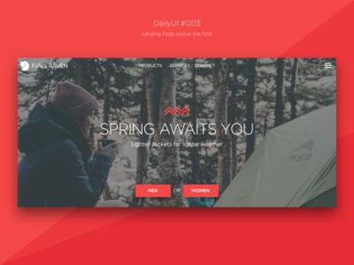 fjällräven landingpage — dailyUI #003