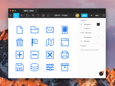 Pixel icons with figma