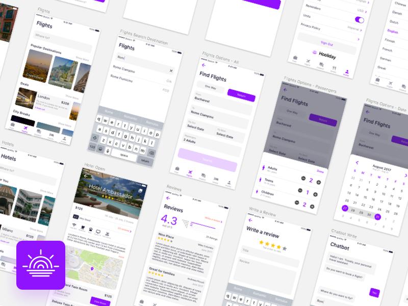 Hooliday - A imaginary travel app
