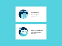 Settings Illustrations for Company and Email Notifcations
