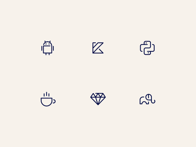 Platform icons engineering code ruby php python java android icon design icons platforms