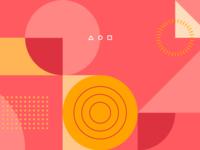 Search Launch Geometric Illustration