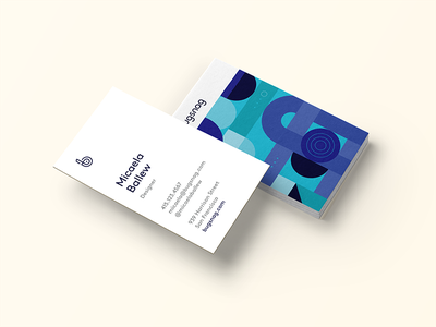 Bugsnag business cards business cards organic shapes illustration geometric bugsnag layout print design abstract