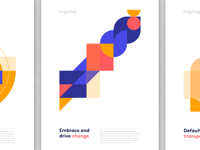 Embrace and drive change values organic shapes illustration geometric branding brand app design abstract
