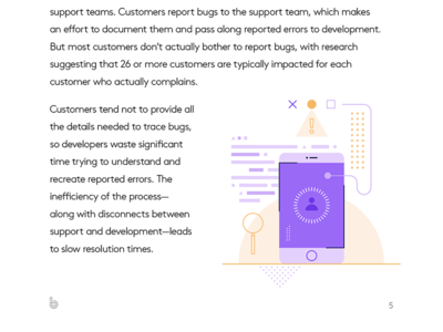 Support and development spot illustration error support development shapes illustration geometric code mobile search app design abstract