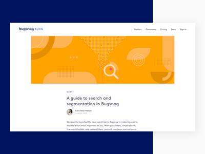 Search and segmentation error development organic shapes illustration geometric code segmentation search blog design abstract