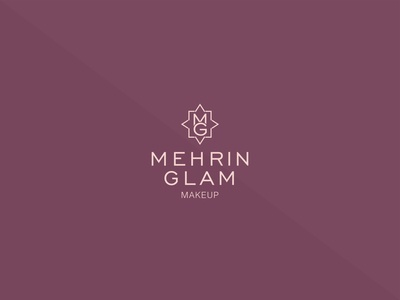Mehrin Glam luxury cosmetic logo concept logo design logo style female fashion glamour makeup artist makeup