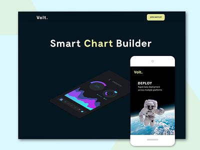 Volt Landing Page branding webdesign ux design business website website landing page design landing page