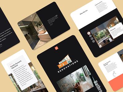 Van & Sons Website dynamic ux design website webdesign branding business website