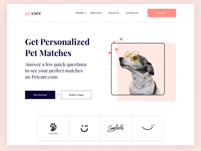 pet adoption mobile app art illustraion web mobile ui uiux website design dog petstore webui website pet design webdesign daily ui