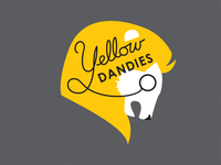 The Yellow Dandies– final logo badge yellow lion team