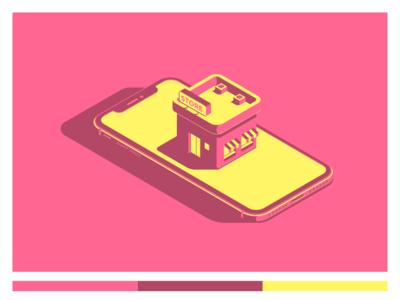 Mobile Store isometric