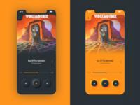 Skeuomorphic x Modern Design for Music player
